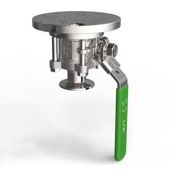 Tank valve-type ball valve