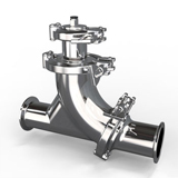 Check valve-type open & close with ball